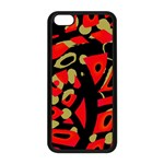 Red artistic design Apple iPhone 5C Seamless Case (Black) Front