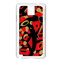 Red artistic design Samsung Galaxy Note 3 N9005 Case (White)