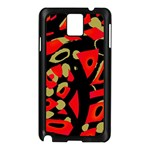 Red artistic design Samsung Galaxy Note 3 N9005 Case (Black) Front
