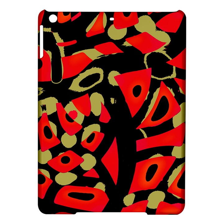Red artistic design iPad Air Hardshell Cases