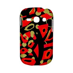 Red artistic design Samsung Galaxy S6810 Hardshell Case