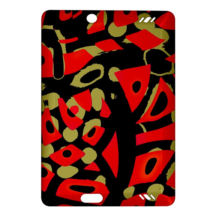 Red artistic design Amazon Kindle Fire HD (2013) Hardshell Case