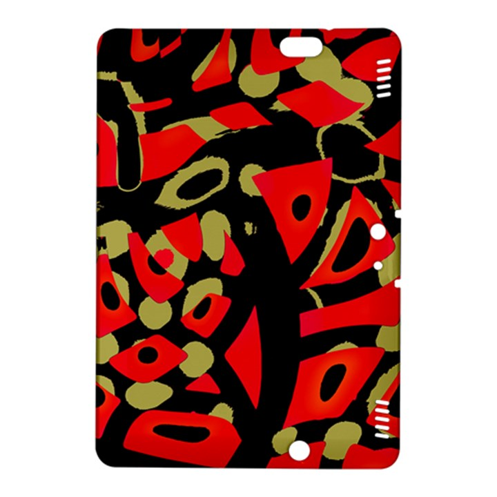 Red artistic design Kindle Fire HDX 8.9  Hardshell Case