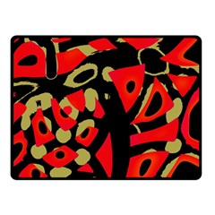 Red artistic design Double Sided Fleece Blanket (Small)