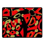 Red artistic design Double Sided Fleece Blanket (Small)  50 x40 Blanket Back