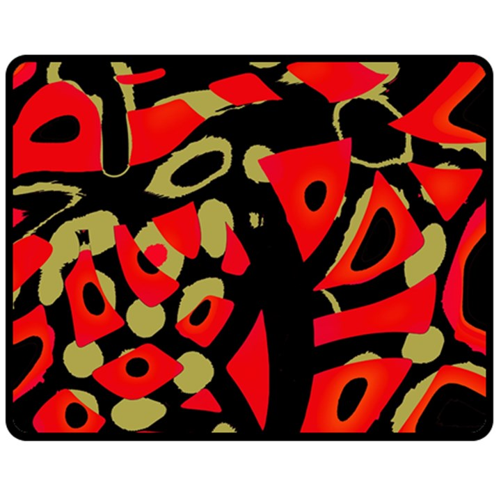 Red artistic design Double Sided Fleece Blanket (Medium)