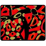 Red artistic design Double Sided Fleece Blanket (Medium)  60 x50 Blanket Back