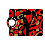 Red artistic design Kindle Fire HD (2013) Flip 360 Case Front