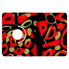 Red artistic design Kindle Fire HDX Flip 360 Case