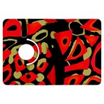 Red artistic design Kindle Fire HDX Flip 360 Case Front