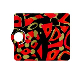 Red Artistic Design Kindle Fire Hdx 8 9  Flip 360 Case