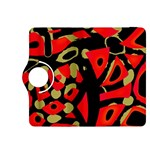 Red artistic design Kindle Fire HDX 8.9  Flip 360 Case Front
