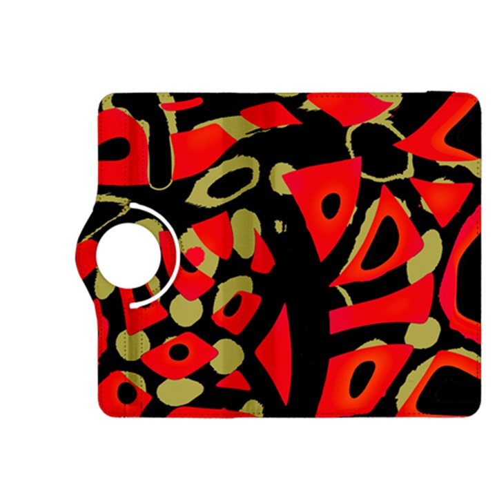 Red artistic design Kindle Fire HDX 8.9  Flip 360 Case