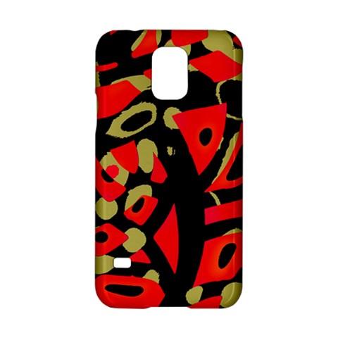 Red artistic design Samsung Galaxy S5 Hardshell Case