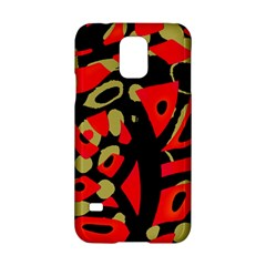 Red Artistic Design Samsung Galaxy S5 Hardshell Case