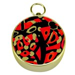 Red artistic design Gold Compasses Front