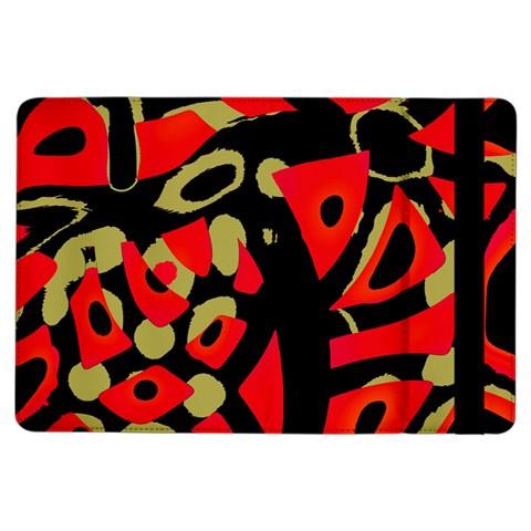 Red artistic design iPad Air Flip
