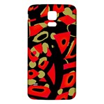 Red artistic design Samsung Galaxy S5 Back Case (White) Front