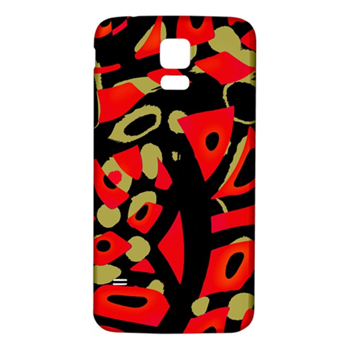 Red artistic design Samsung Galaxy S5 Back Case (White)