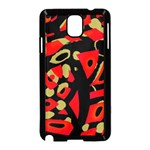 Red artistic design Samsung Galaxy Note 3 Neo Hardshell Case (Black) Front