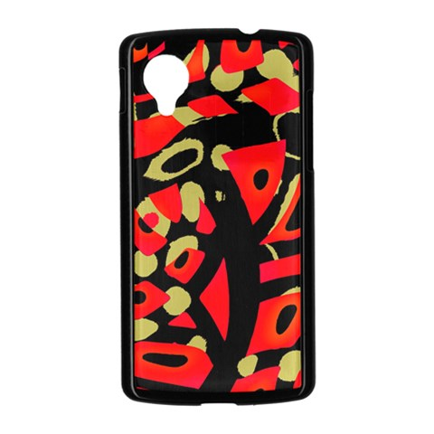 Red artistic design Nexus 5 Case (Black)