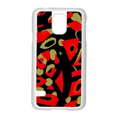 Red Artistic Design Samsung Galaxy S5 Case (white)