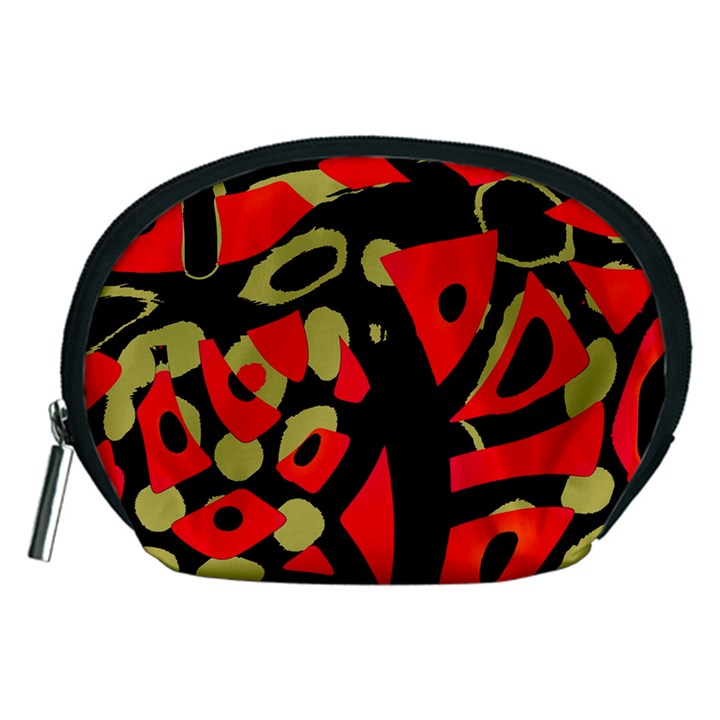 Red artistic design Accessory Pouches (Medium)