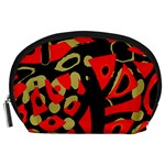 Red artistic design Accessory Pouches (Large)  Front