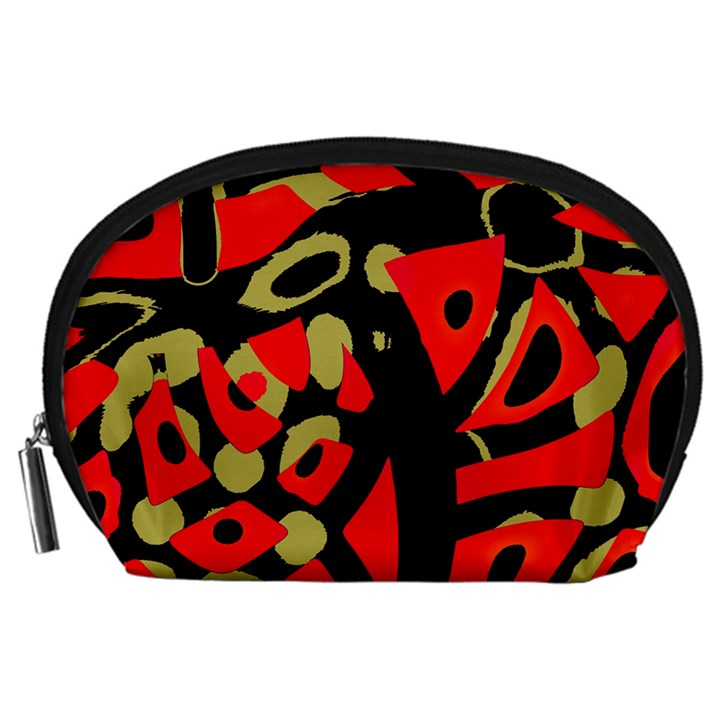 Red artistic design Accessory Pouches (Large)