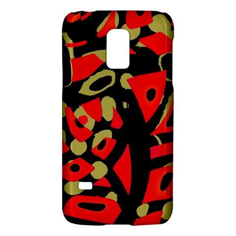 Red artistic design Galaxy S5 Mini