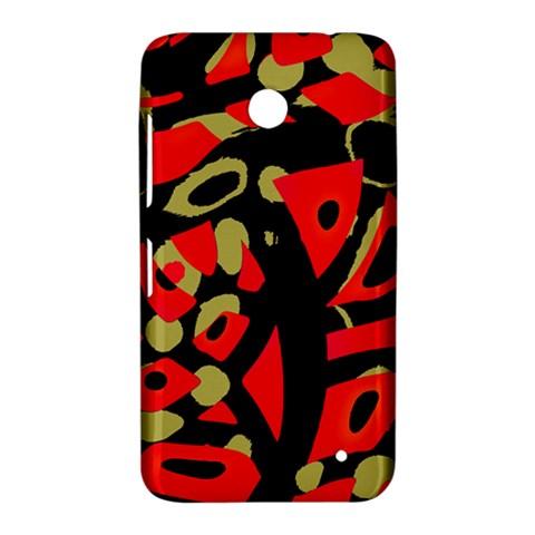 Red artistic design Nokia Lumia 630