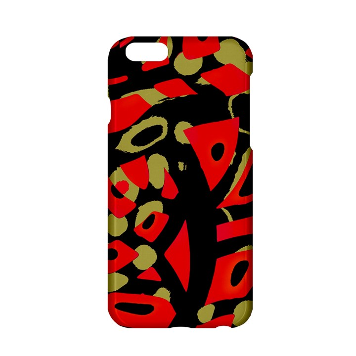 Red artistic design Apple iPhone 6/6S Hardshell Case