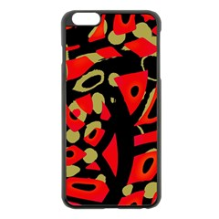 Red artistic design Apple iPhone 6 Plus/6S Plus Black Enamel Case
