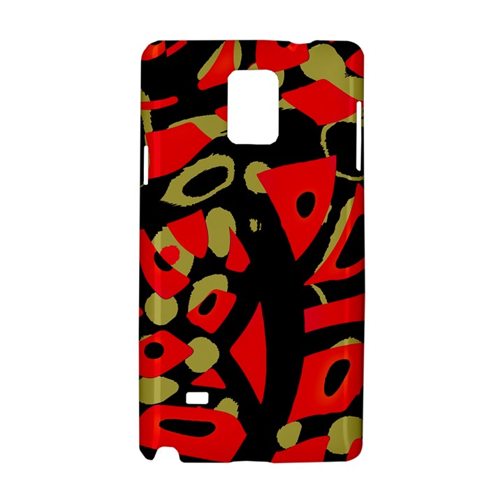 Red artistic design Samsung Galaxy Note 4 Hardshell Case