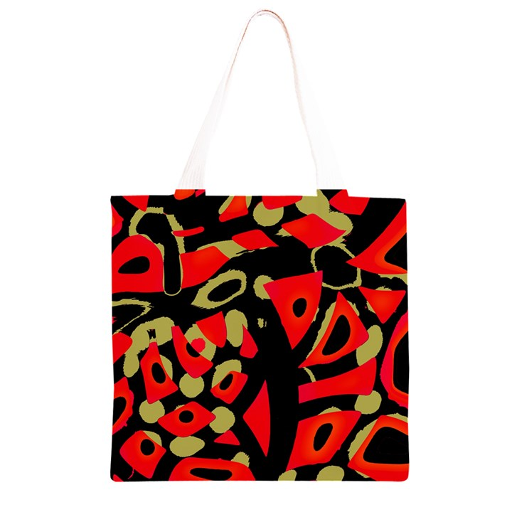 Red artistic design Grocery Light Tote Bag