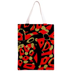 Red artistic design Classic Light Tote Bag