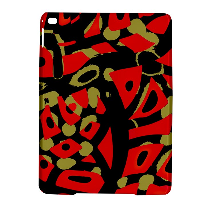 Red artistic design iPad Air 2 Hardshell Cases