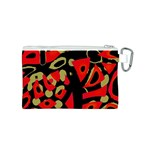 Red artistic design Canvas Cosmetic Bag (S) Back