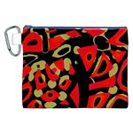 Red artistic design Canvas Cosmetic Bag (XXL) Front