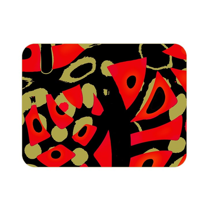 Red artistic design Double Sided Flano Blanket (Mini)