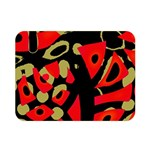 Red artistic design Double Sided Flano Blanket (Mini)  35 x27 Blanket Back