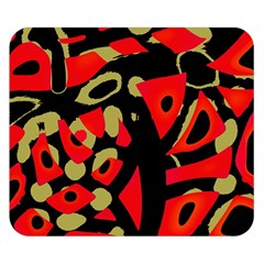 Red artistic design Double Sided Flano Blanket (Small)