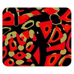 Red artistic design Double Sided Flano Blanket (Small)  50 x40 Blanket Back