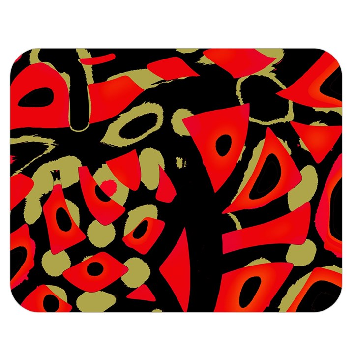 Red artistic design Double Sided Flano Blanket (Medium)
