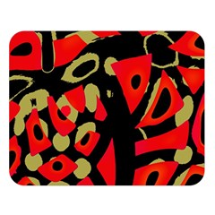 Red Artistic Design Double Sided Flano Blanket (large)