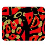 Red artistic design Double Sided Flano Blanket (Large)   Blanket Back