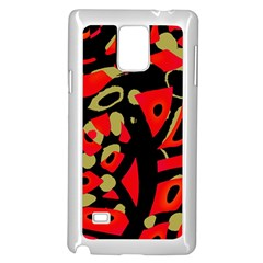 Red artistic design Samsung Galaxy Note 4 Case (White)