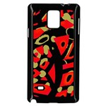 Red artistic design Samsung Galaxy Note 4 Case (Black) Front