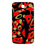 Red artistic design Samsung Galaxy Mega I9200 Hardshell Back Case Front