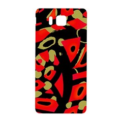 Red artistic design Samsung Galaxy Alpha Hardshell Back Case